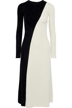 IRIS & INK Echeveria two-tone cady midi dress