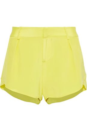 ALICE + OLIVIA Butterfly silk crepe de chine shorts