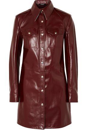 CALVIN KLEIN 205W39NYC Leather mini dress
