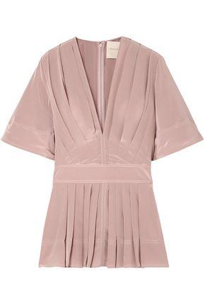 ROKSANDA Pleated silk crepe de chine blouse