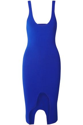 ALTUZARRA Saturday asymmetric cutout stretch-knit dress