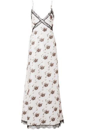 BROCK COLLECTION Onorina lace-trimmed floral-print taffeta maxi dress