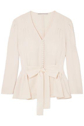 STELLA McCARTNEY Belted cady peplum blouse