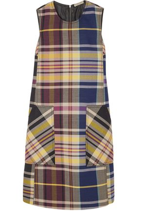 BOTTEGA VENETA Checked wool dress