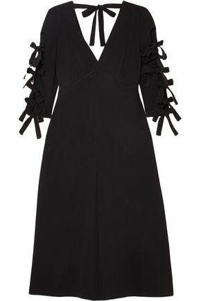 BOTTEGA VENETA Bow-detailed crepe dress