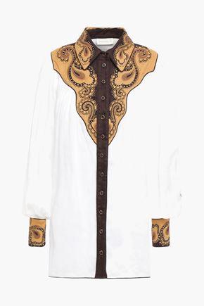 ZIMMERMANN Embellished ramie-canvas shirt