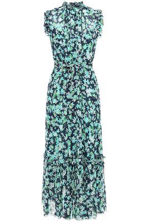 ZIMMERMANN Moncur ruffle-trimmed gathered floral-print georgette midi dress