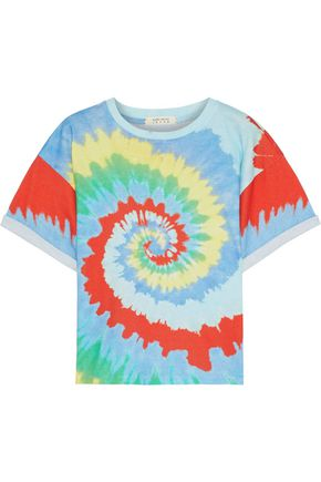 ALICE + OLIVIA Evan tie-dyed cotton-jersey T-shirt
