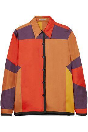 BOTTEGA VENETA Printed silk-faille shirt