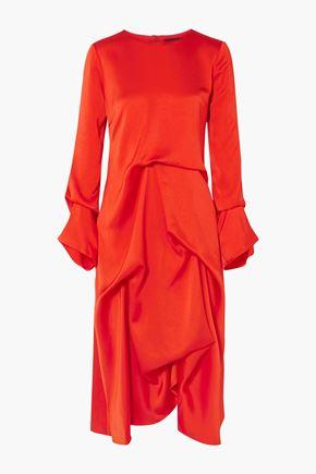 """SIES MARJAN فستان متوسط الطول """"نويمي"""" بتصميم منسدل من الكريب الساتان"""