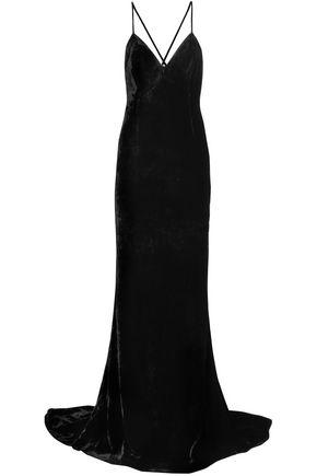 STELLA McCARTNEY Open-back velvet gown