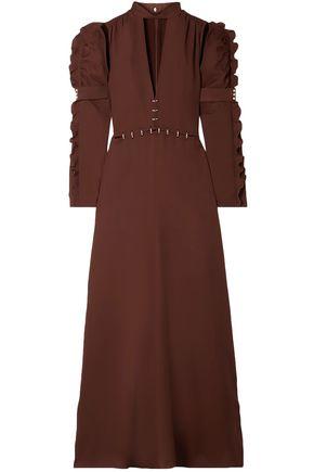 CHLOÉ فستان سهرة من قماش كادي المزين مع أجزاء مقصوصة