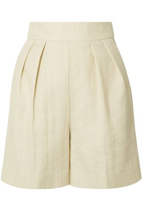 THEORY Pleated twill shorts