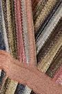 MISSONI Wrap-effect pleated metallic striped maxi dress