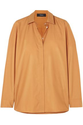 THEORY Cotton-poplin shirt