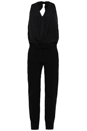 BA&SH Crepe halterneck jumpsuit