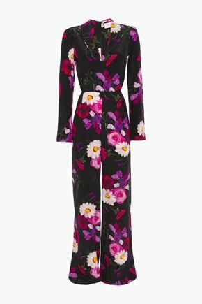 SEREN LONDON Betty floral-print silk-crepe wide-leg jumpsuit