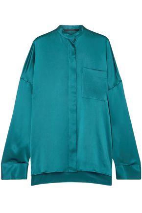 HAIDER ACKERMANN Oversized silk-charmeuse shirt