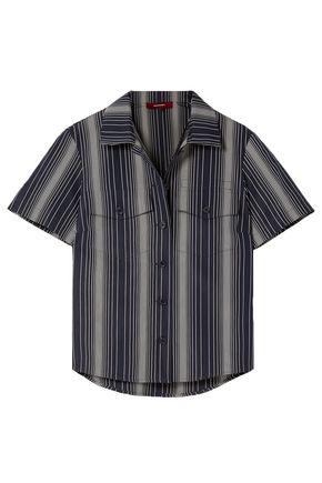 """SIES MARJAN قميص """"نيكو"""" من قماش البوبلين القطني المخطط"""