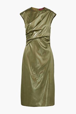 SIES MARJAN Edie ruched lamé dress