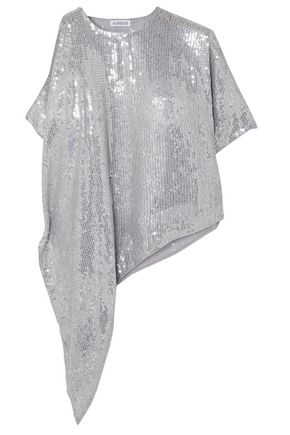 ASHISH Asymmetric sequined georgette top