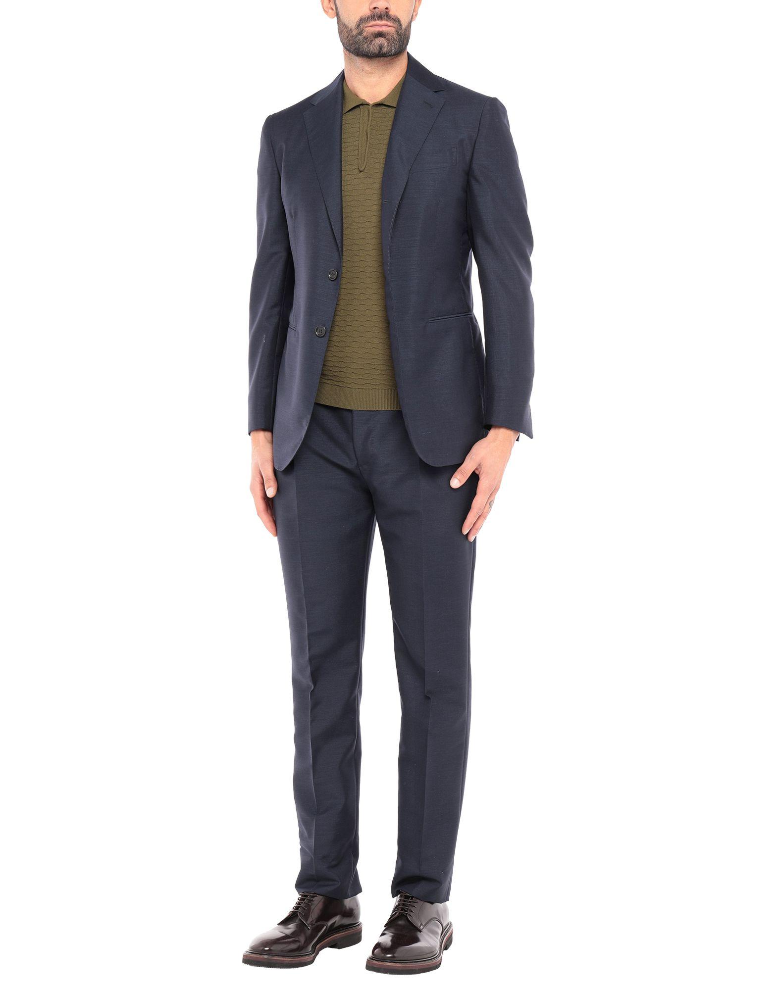 《セール開催中》STILE LATINO メンズ スーツ ダークブルー 50 モヘヤ 60% / ウール 40%