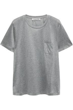 VALENTINO Mélange cotton-jersey T-shirt