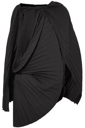 JUNYA WATANABE Asymmetric pleated pinstriped wool-blend tunic