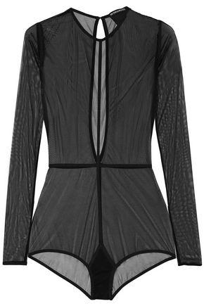 ANN DEMEULEMEESTER Stretch-tulle bodysuit