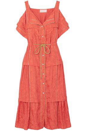 PETER PILOTTO Cold-shoulder jacquard midi dress