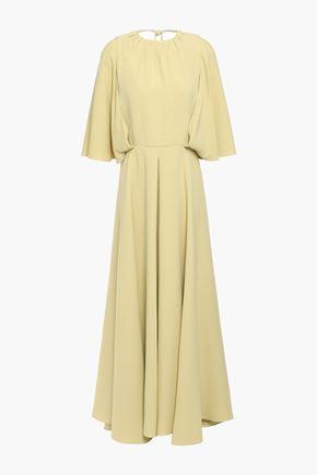 VALENTINO Cutout silk-crepe maxi dress