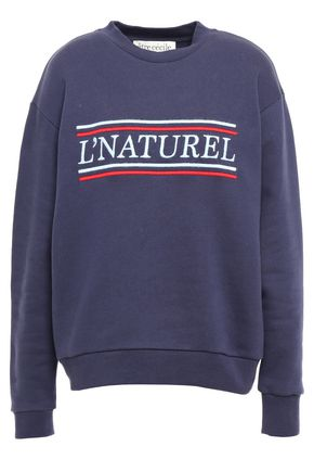 ÊTRE CÉCILE Embroidered French cotton-terry sweatshirt
