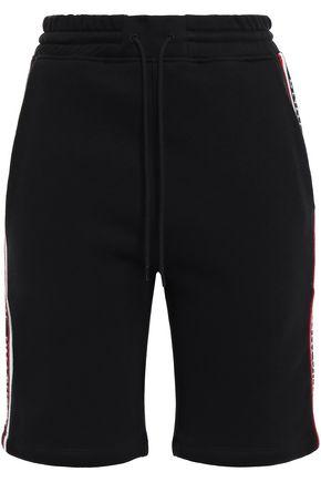 ÊTRE CÉCILE Embroidered cotton-fleece shorts