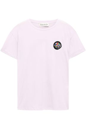 ÊTRE CÉCILE Oversized appliquéd printed cotton-jersey T-shirt