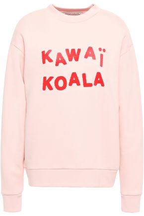 ÊTRE CÉCILE Kawai Koala appliquéd flocked cotton-fleece sweatshirt