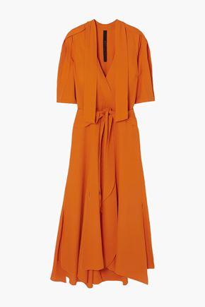 PETAR PETROV Deville belted silk-crepe maxi dress