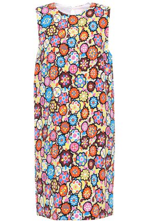 EMILIO PUCCI Floral-print stretch-crepe mini dress