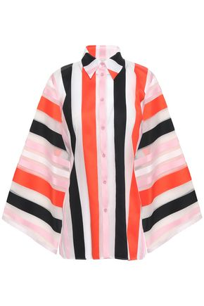EMILIO PUCCI Striped cotton-blend organza shirt