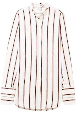 "TRE by NATALIE RATABESI قميص ""ذي دوبييتا"" من مزيج الكتان والقطن المخطط"