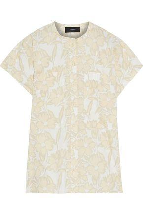 """JOSEPH قميص """"إسحق"""" من قماش البوبلين القطني المطبع بالورود"""