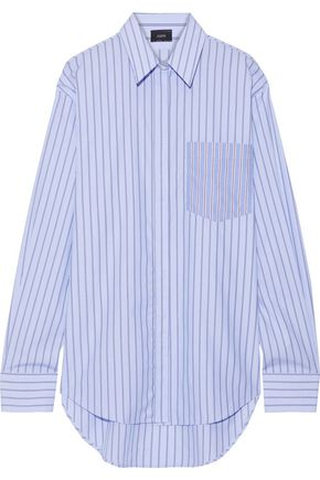 JOSEPH Gibson oversized striped cotton-poplin shirt