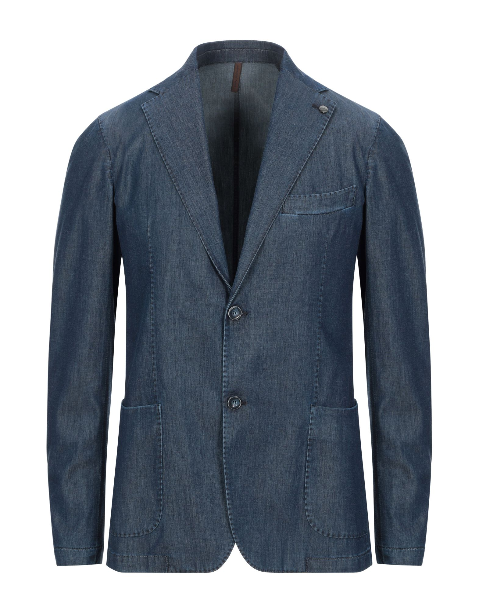 《セール開催中》LABORATORI ITALIANI メンズ テーラードジャケット ブルー 46 テンセル 55% / コットン 43% / ポリウレタン 2%