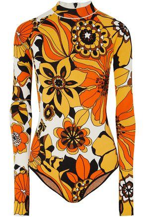 KWAIDAN EDITIONS Floral jacquard-knit bodysuit