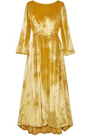 ADAM LIPPES Metallic silk-velvet maxi dress