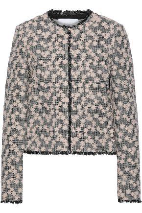 GIAMBATTISTA VALLI Floral-appliquéd cotton-blend tweed jacket