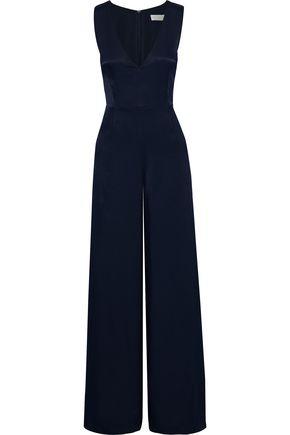 LES HÉROÏNES by VANESSA COCCHIARO The Nina satin-crepe wide-leg jumpsuit