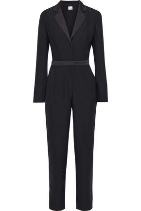IRIS & INK Aubrieta satin-trimmed crepe jumpsuit