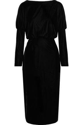 RACHEL ZOE Emmaline open-back stretch-velvet dress