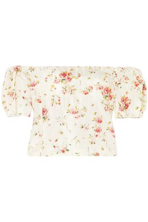 BROCK COLLECTION Boie off-the-shoulder floral-print silk blouse