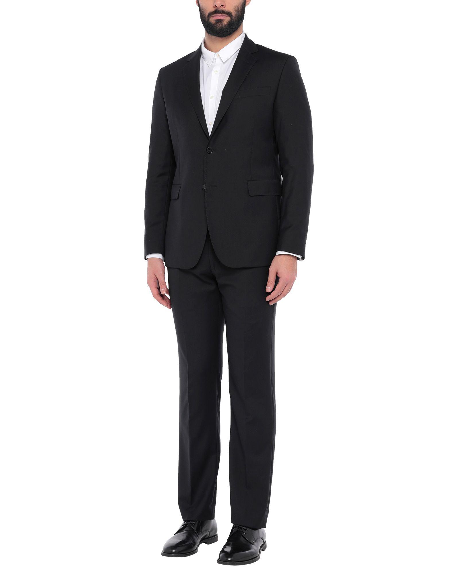 《セール開催中》BERRY & BRIAN メンズ スーツ ブラック 54 バージンウール 100%